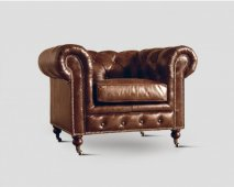 Chesterfield Sessel Dialma braun