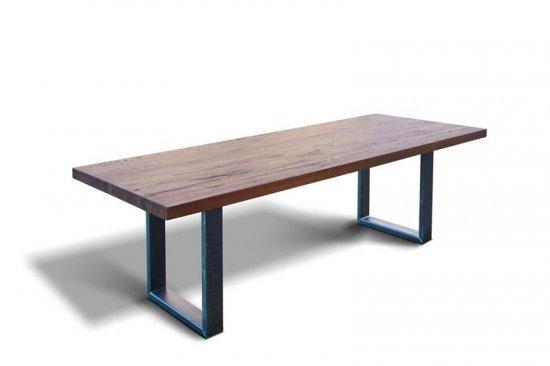 esstisch dtx80 eiche industriestahl 200 x 100cm chf. Black Bedroom Furniture Sets. Home Design Ideas