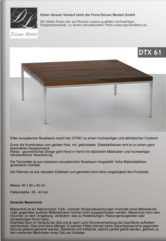 Deluxe Clubtisch Nussbaum Massiv Bischofszell Acheter