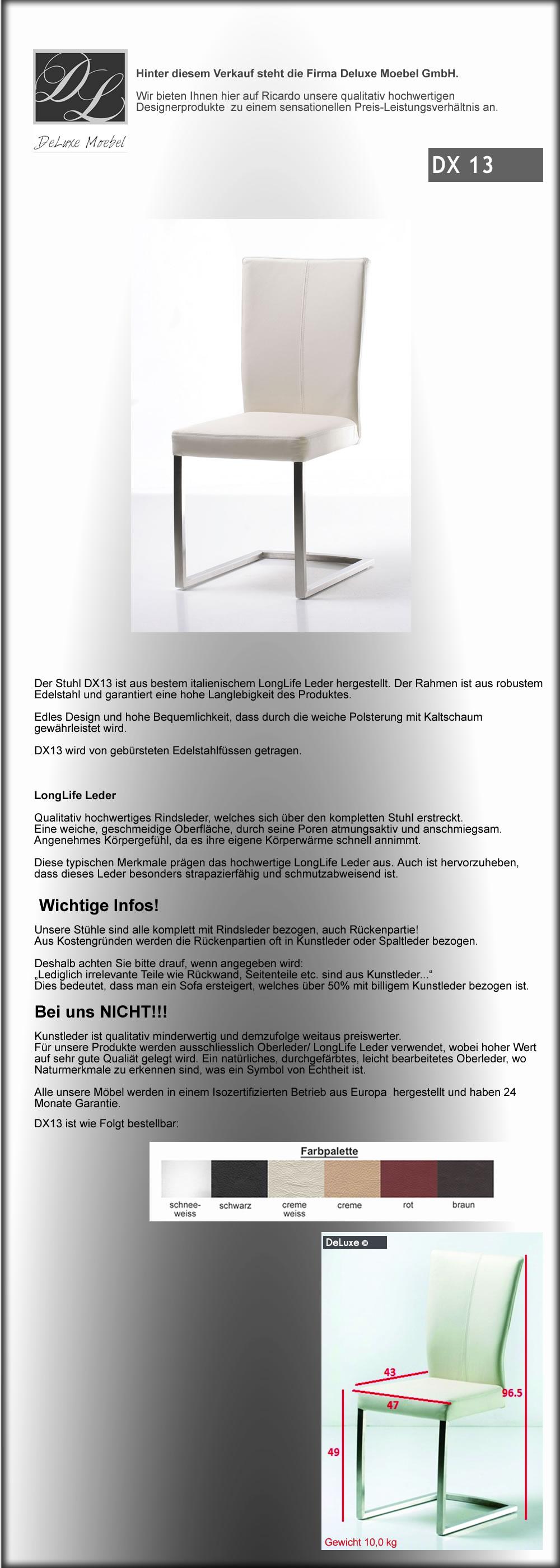 deluxe freischwinger in echtleder in bischofszell kaufen. Black Bedroom Furniture Sets. Home Design Ideas